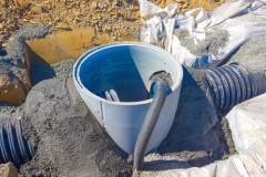 EUROFLO civil connection to concrete manhole