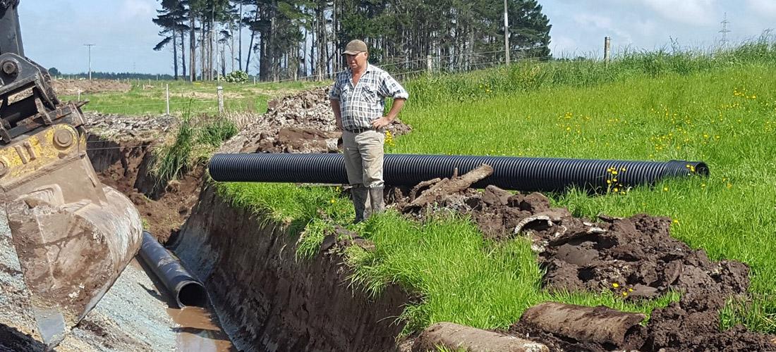 Slotted EUROFLO in farm drainage