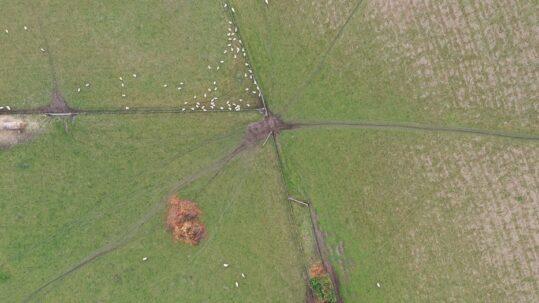 Drone footage of farm